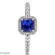 Pandora kék időtlen elegancia gyűrű - 190947NBT