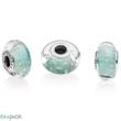 Pandora mentaszínű csillámló muránói charm - 791669