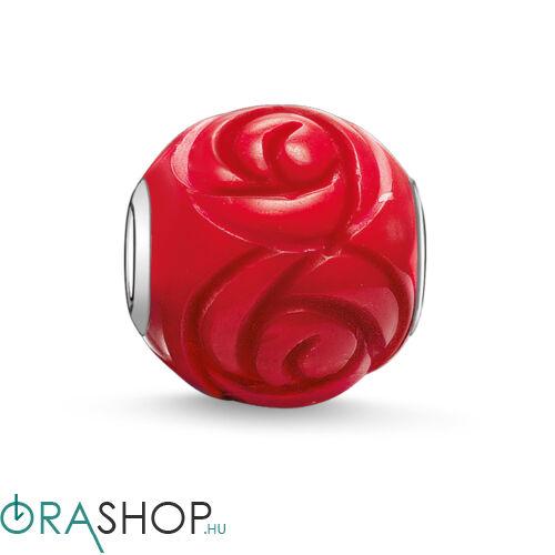 Thomas Sabo vörös rózsa gyöngy - K0038-590-10