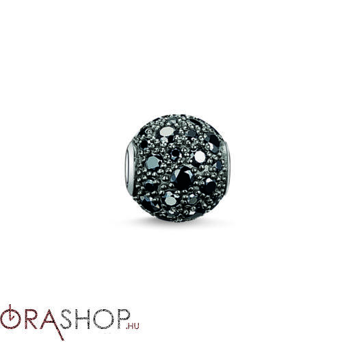 Thomas Sabo fekete cirkónia díszes gyöngy - K0109-643-11