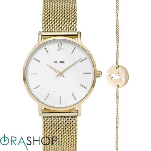 Cluse női óra + karkötő - CLG012 - Minuit Heart