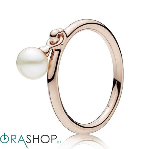 Pandora kortárs gyöngy rozé gyűrű - 187525P