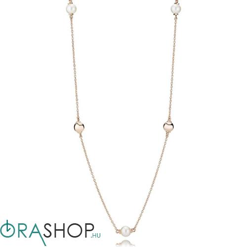 Pandora kortárs gyöngyök rozé nyaklánc - 387550P-80