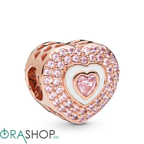 Pandora szív a szívben charm - 788097NPR