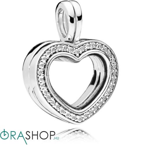 Pandora csillogó szív medál - 797248CZ