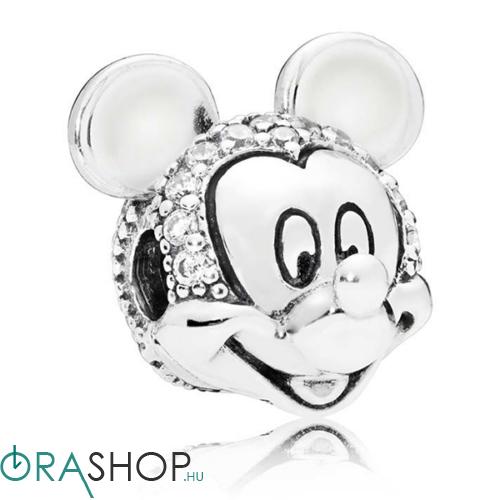 Pandora csillámló Mickey portré charm - 797495CZ