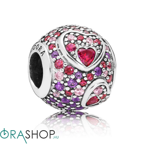 Pandora aszimmetrikus szívek charm - 797826CZRMX