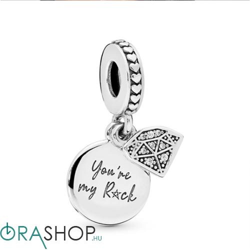 "Pandora ""You're my Rock"" függő - 798102CZ"