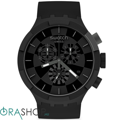 Swatch férfi óra - SB02B400 - Checkpoint Black