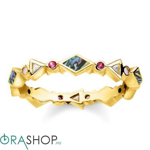 Thomas Sabo színes kövek gyűrű - TR2229-295-7