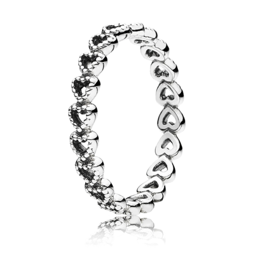 Pandora áttört szív gyűrű - 190980