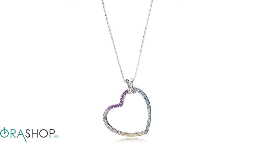Pandora többszínű szív nyaklánc - 397070NRPMX-60 - Pandora ... 72dafc520e